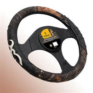 Steering Wheel Covers Browning Browning Steering Wheel Cover With Buckmark Grips Logo Ebay