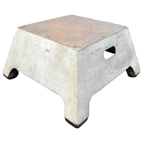 Conductor Step Stool by Industrial Aluminum Conductor Stool At 1stdibs