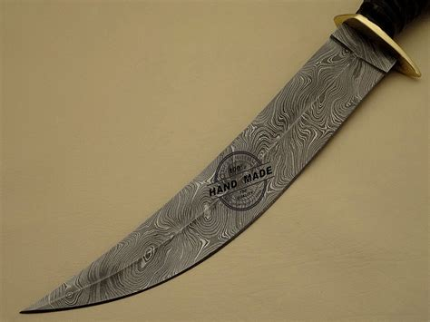Handmade Damascus Steel Knives - new damascus bowie knife custom handmade damascus steel
