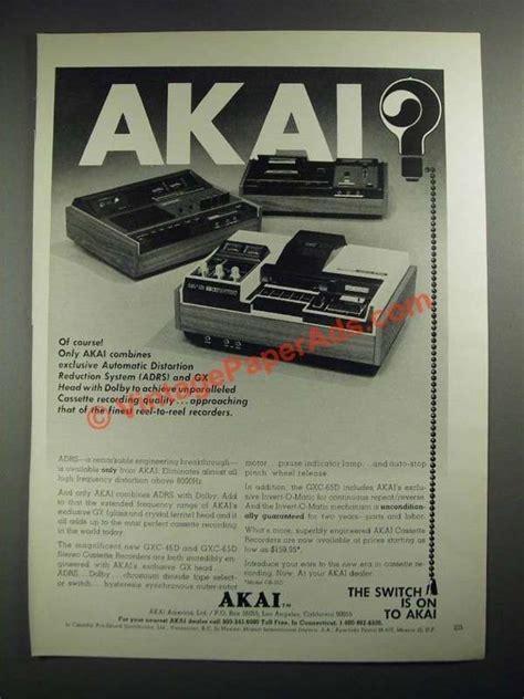Akai Stereo Lidge Hitam 1972 akai stereo cassette recorders ad gxc 46d gxc 65d