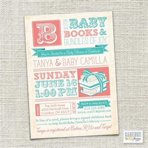 etsy vintage baby shower invitations 17 best images about invitaciones infantiles on