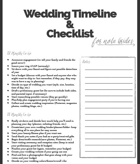 printable wedding planner forms wedding planning checklist printable download free