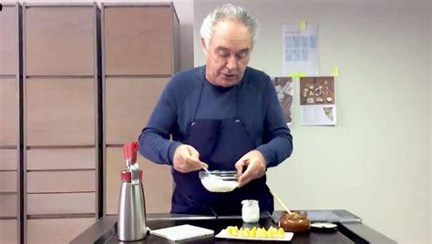 ferran adria da algunas de sus recetas  pasar la