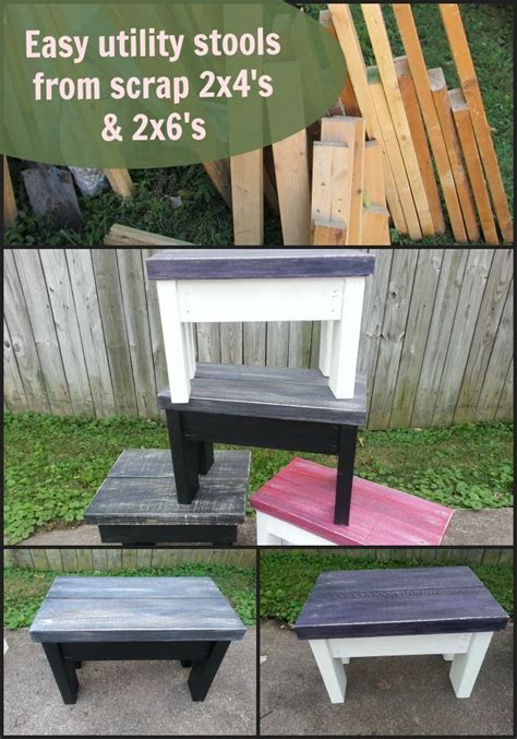 diy 2x4 bench how to make utility stools benches out of scrap lumber