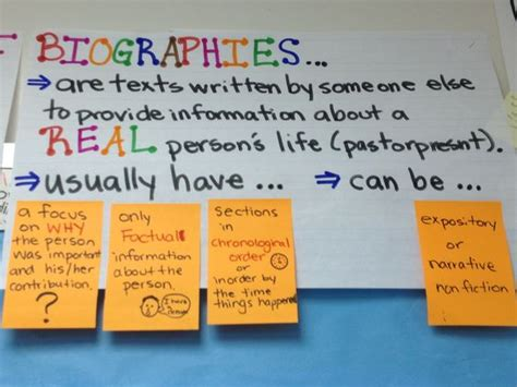 characteristics of biography and autobiography biography characteristics 3rd grade lucy calkins