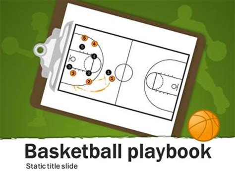 Basketball Playbook A Powerpoint Template From Powerpoint Playbook