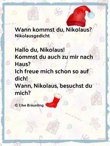 Wann Kommst Du Nikolaus Kleines Nikolausgedicht Scrapbook