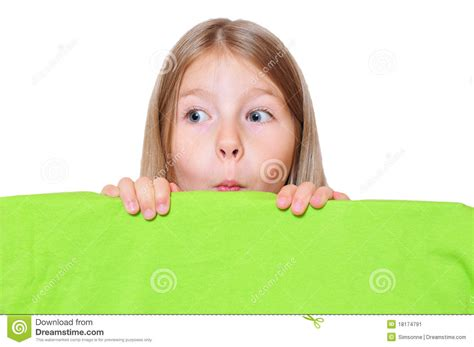 Funny image girl looking at pizza
