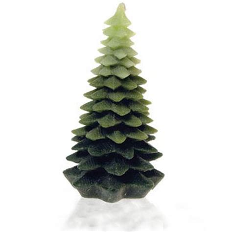 chunky christmas tree candle the green head