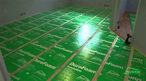 how to insulate a basement floor with plasti fab s