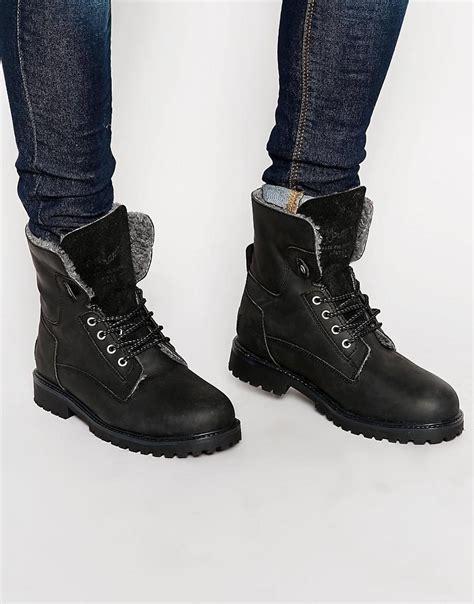 wrangler boots for lyst wrangler aviator boots in black for