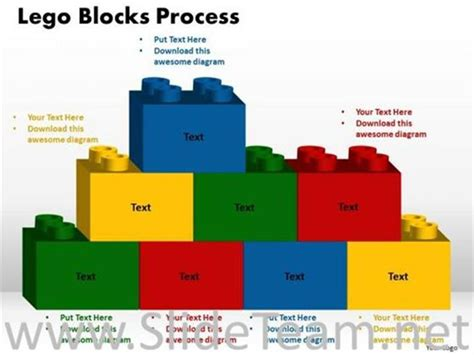theme powerpoint lego text lego blocks ppt theme powerpoint diagram