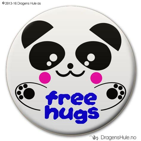 Free Hugs Panda button free hugs panda d dragens hule butikken med det