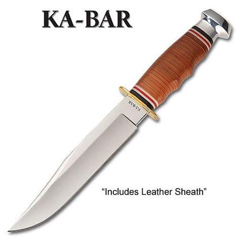 Ka Bar Bowie Fixed Blade Knife Stacked Leather Handle W Sheath 1236 1 ka bar 2 1236 9 bowie stacked leather handle leather sheath 617717212369 toolfanatic