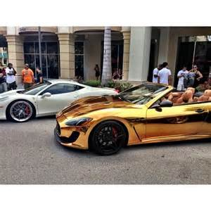 Gold Maserati Gold Chrome Maserati Vroom Vroom