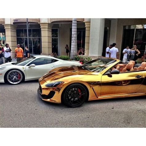 gold maserati gold chrome maserati vroom vroom gold