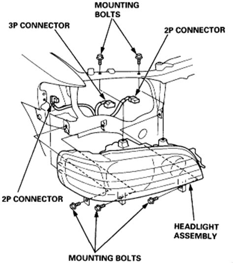 how to remove passenger headlight assembly acurazine is there anywhere that i can get the instructions for replacing my own 96 acura tl headlight
