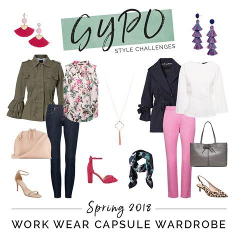 spring work capsule wardrobe spring 2018 work wear capsule wardrobe style challenges