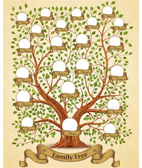 family tree portrait template 25 unique family tree templates ideas on