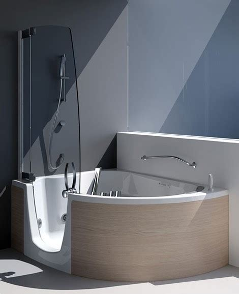 corner bathtub with shower combo tub shower combination from teuco corner tub
