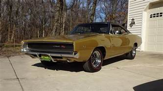 Gold Dodge Charger 1968 Dodge Charger R T In Medium Gold 426 Hemi Engine