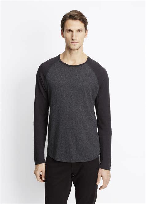 Raglan 02 From Ordinal Apparel lyst vince slub cotton sleeve raglan in black for