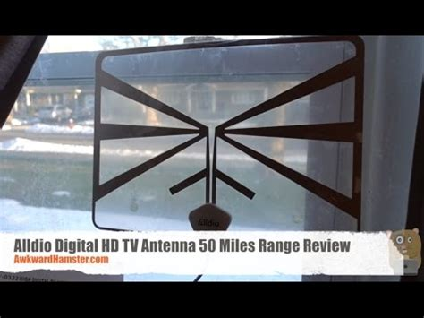 alldio digital hd tv antenna  miles range review youtube