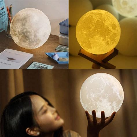 where the light is 3d moon l usb led night light moonlight gift touch