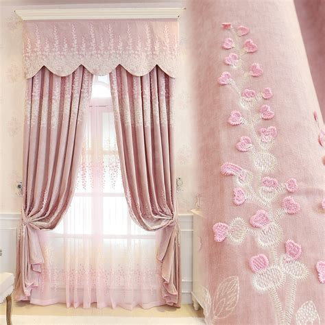 pink tulle curtains princess pink embroidery curtains jacquad ᓂ tulle tulle