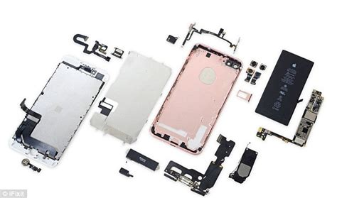 appart of iphone7 taken apart to show how it works daily mail online