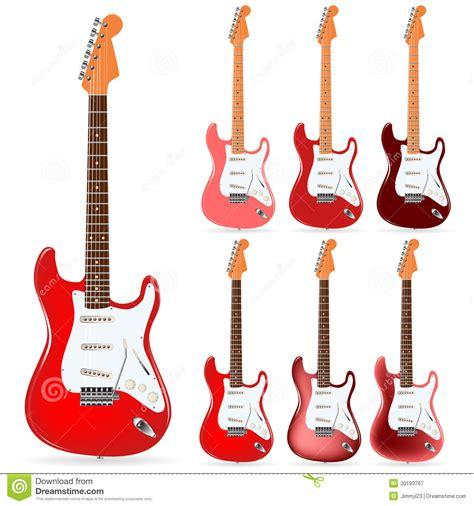 imagenes de guitarras rojas guitarras el 233 ctricas fotograf 237 a de archivo libre de