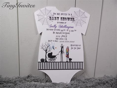nightmare before baby shower theme nightmare before baby shower by tinyinvites on etsy