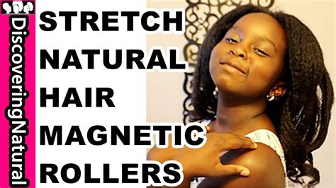 magnetic rollers on short natural hair youtube stretching natural hair with magnetic rollers youtube