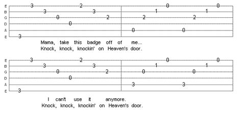 Knocking On Heavens Door Tabs by Real Tabs And Lessons For Guitar Page 2