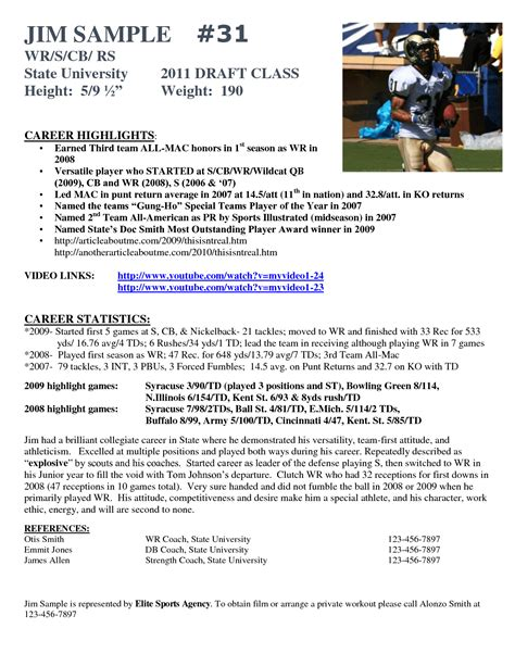 Soccer Player Resume Exle Exles Of Resumes Player Resume Template
