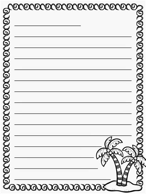 letter writing paper kindergarten writing paper printable free elementary