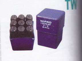 Mata Bor Besi 4 5mm Merk Tjap Mata 3 28b ketok angka set 3 mm products of perkakas