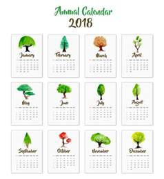 Calendar 2018 Indonesia Vector 2018 Calendar Tree Design Vector Free