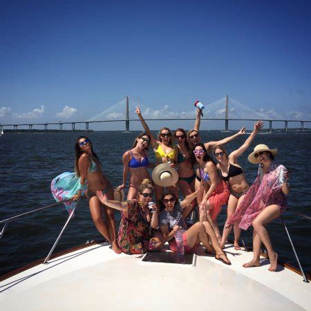 bachelorette boat rental charleston sc nauti thoughts charters charleston nam carolina đ 225 nh gi 225