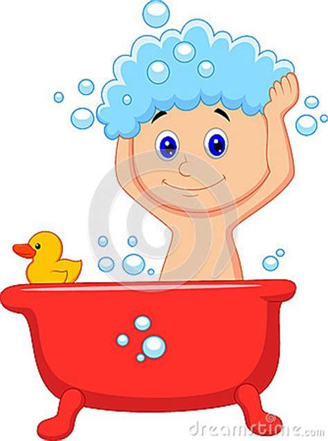 cute cartoon boy  bath royalty  stock image image
