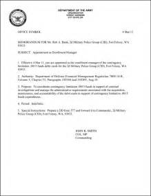 Appointment Letter Template Air Force Memorandum Of Instruction Example Best Template Amp Design