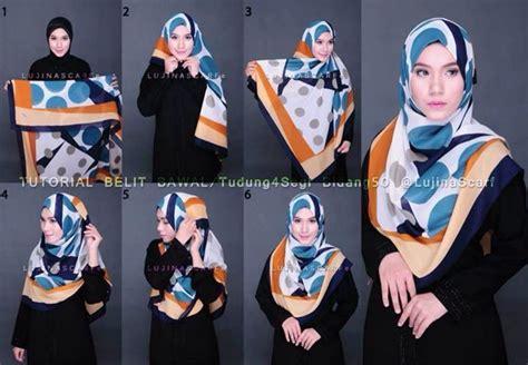 Tutorial Segi Empat Menutup Dada | 8 tutorial jilbab menutup dada untukmu yang ingin bergaya