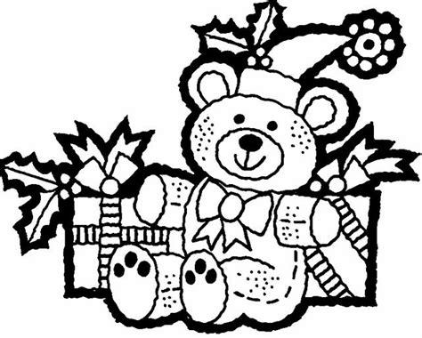 dibujos de navidad para colorear de ositos osito peluche navide 241 o dibujalia dibujos para colorear