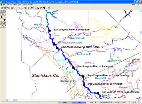 california map san joaquin river san joaquin river map my