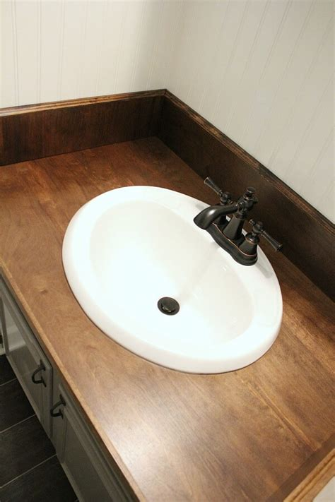 diy wood bathroom countertop diy wood bathroom countertop an easy way to change your