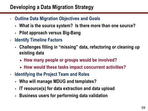 data migration strategy template winning strategies for converting and migrating master