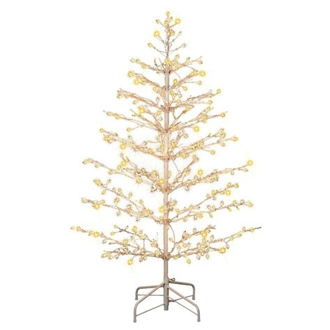 Trim A Home® 117 91360350 C 5ft Brilliant Lighted Stick Tree with Clear Lights Christmas