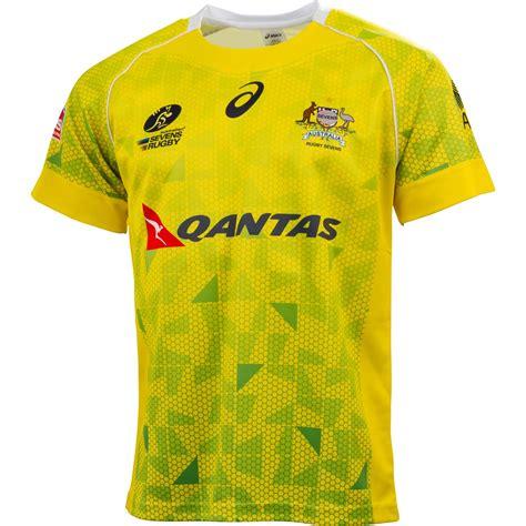 design jersey australia australia sevens 2014 15 asics home alternate shirts