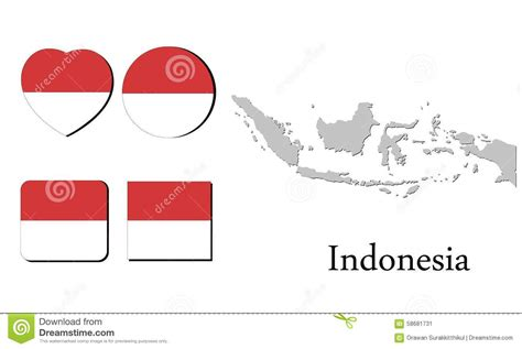 design graphic indonesia flag map indonesia stock illustration image of scalable