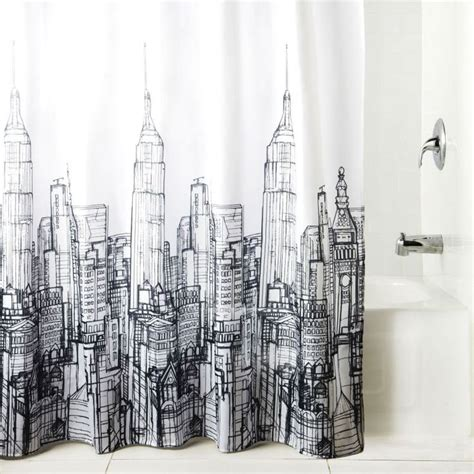 cityscape curtains cityscape shower curtain
